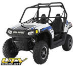 2010 RANGER RZR LE-Pearl White with Sonic Blue Graphics