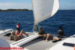 Sailing near The Dogs in the British Virgin Islands