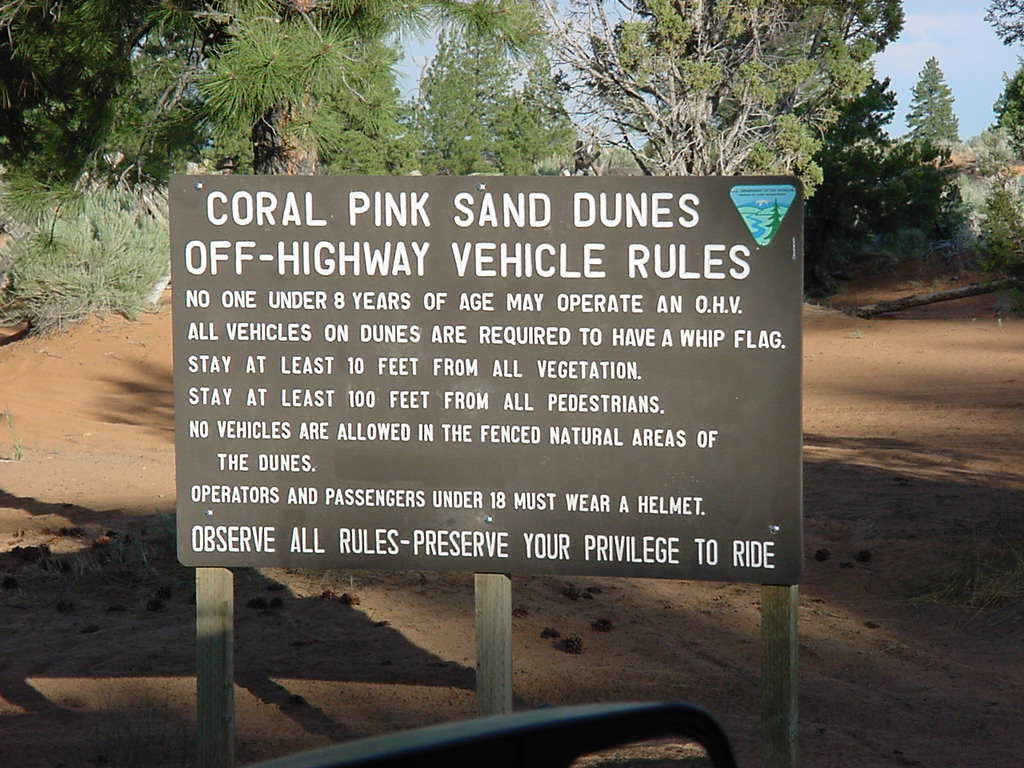 Coral Pink State Park Rules