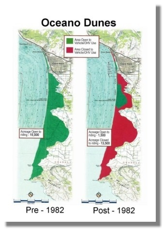 Oceano Dune Closure Map