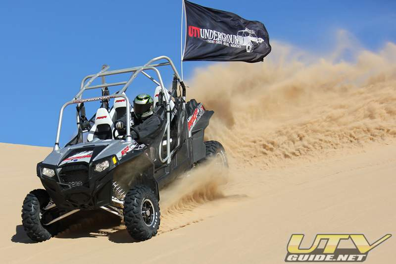 Polaris RZR XP 4 in the dunes