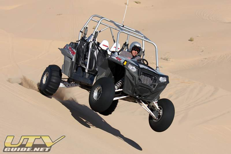 Polaris RZR XP 4 with Dave Kuskie from Fullerton Sand Sports behind the wheel