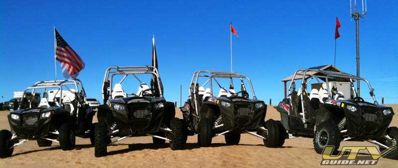 Polaris RZR XP 4's at Osborne Overlook