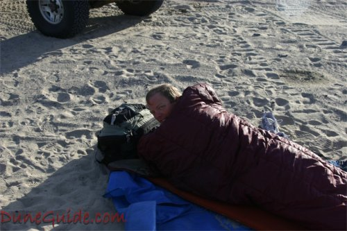 Sand Mountain - Mac sleeping in the sand